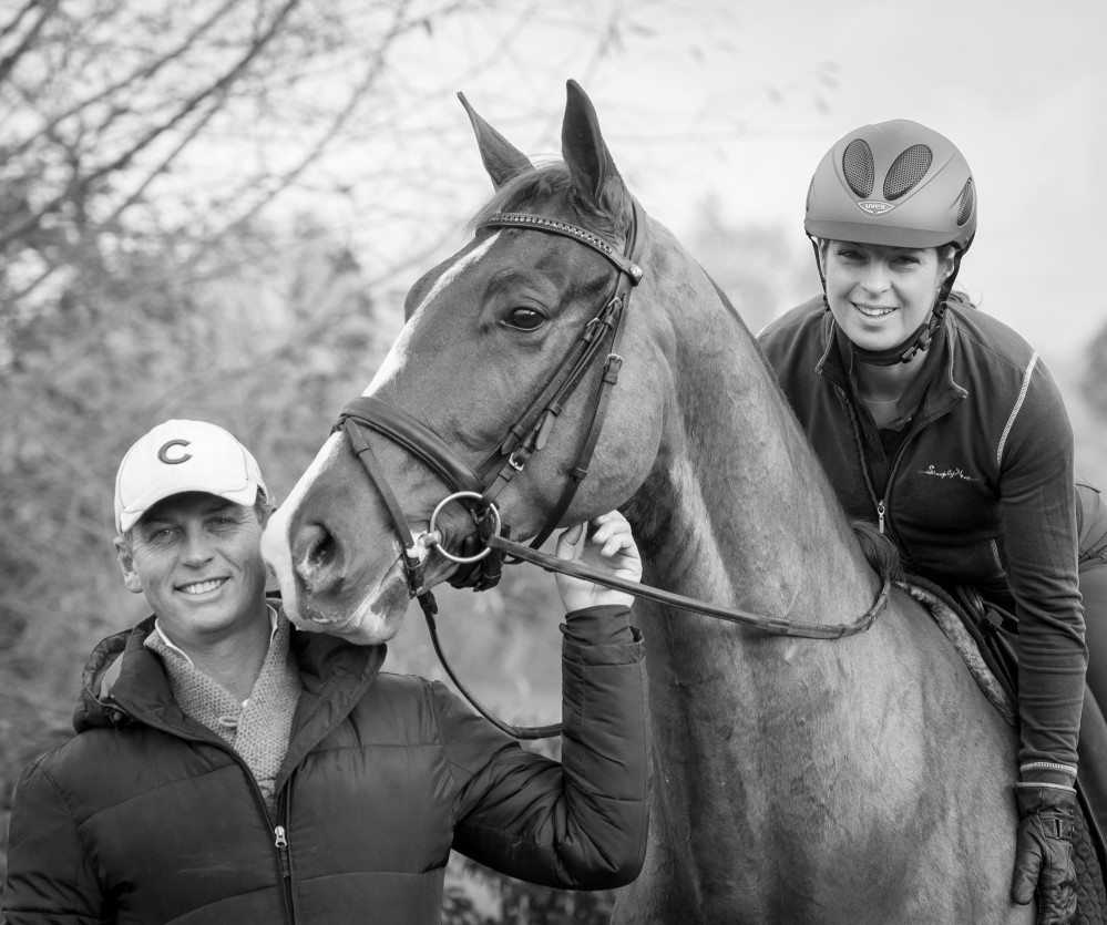With trainer Carl Hester  Photo - Leslie Bliss